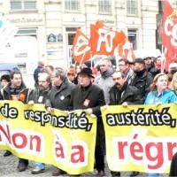 Manifestation URIF et  Force Ouvrière Essonne