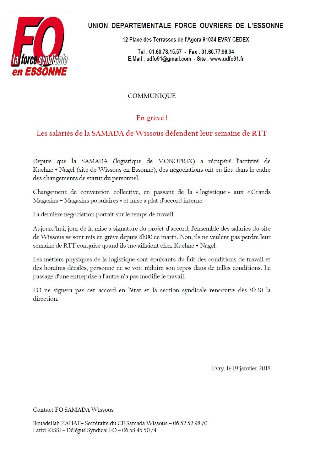 Image of En grève ! Les salariés de la SAMADA de Wissous défendent leur semaine de RTT