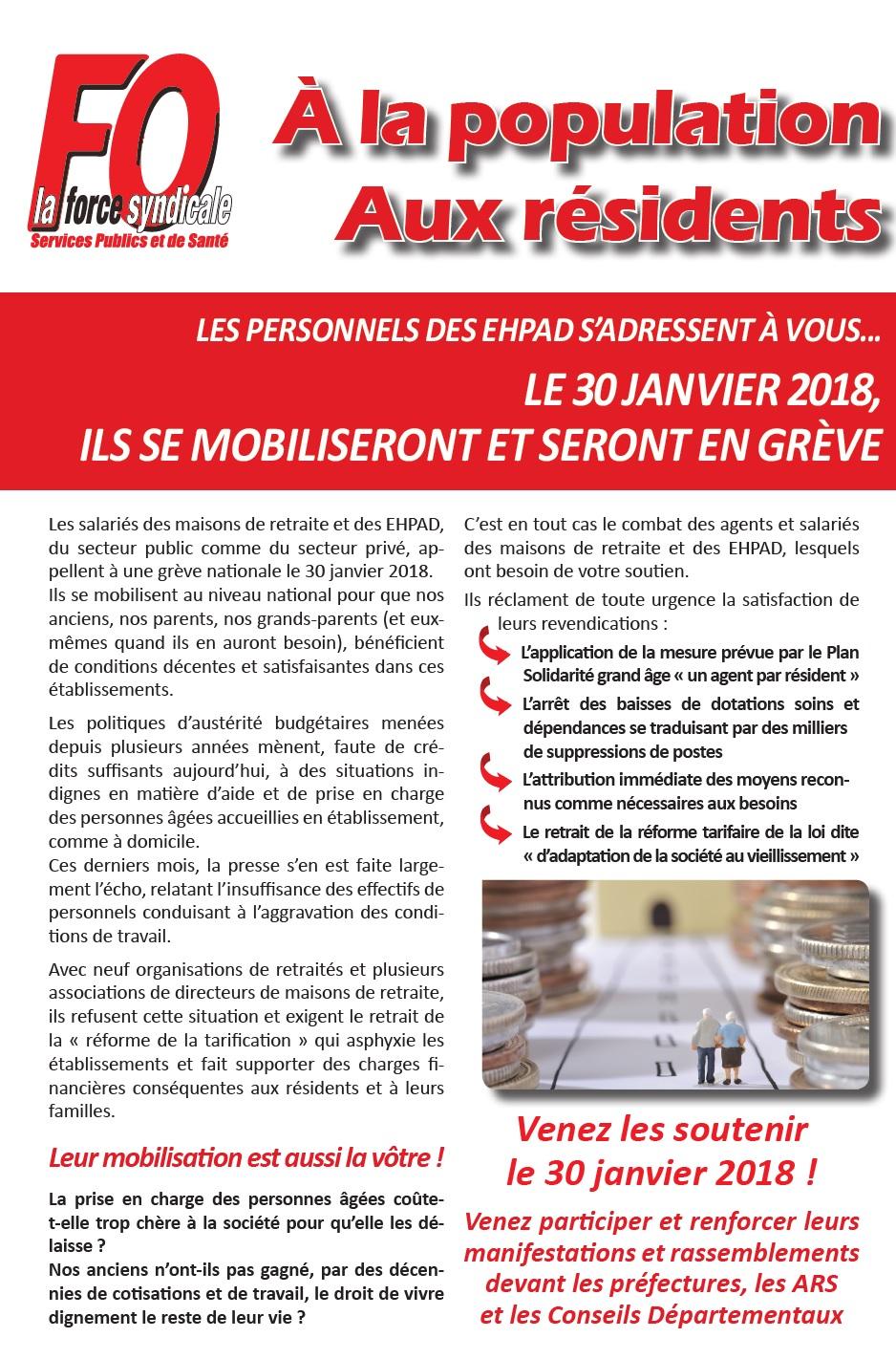 Image of Appel à la grève de tous les EHPAD le mardi 30 janvier 2018 !