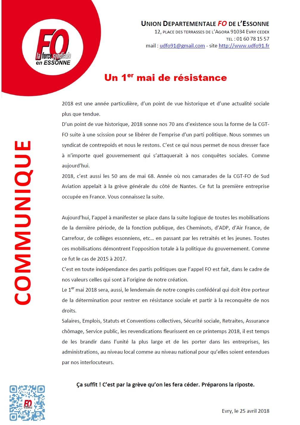 Image of Un 1er mai de résistance