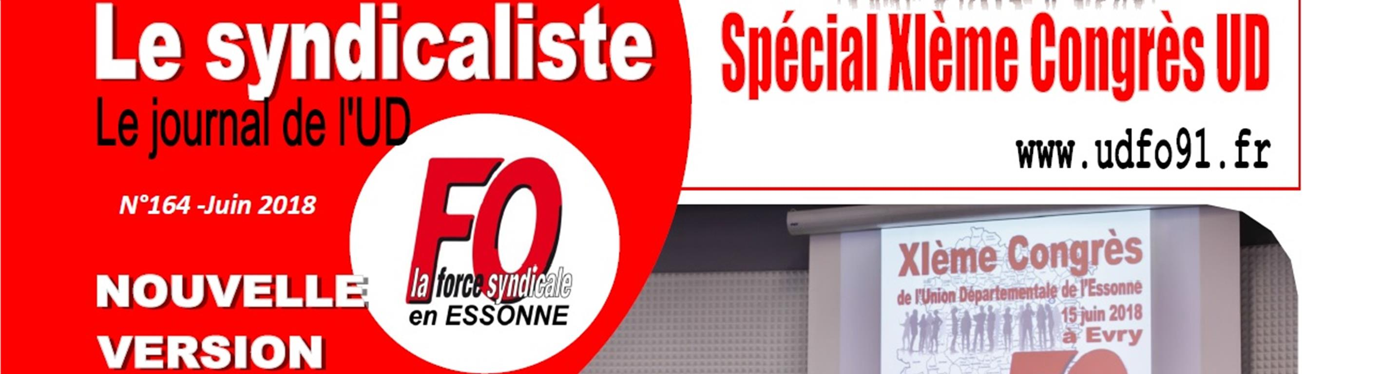 Journal Le Syndicaliste FO 91