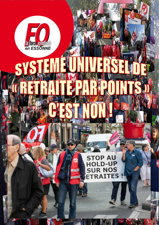 Image of SYSTÈME « UNIVERSEL » DE RETRAITE PAR POINTS : C'EST TOUJOURS NON !