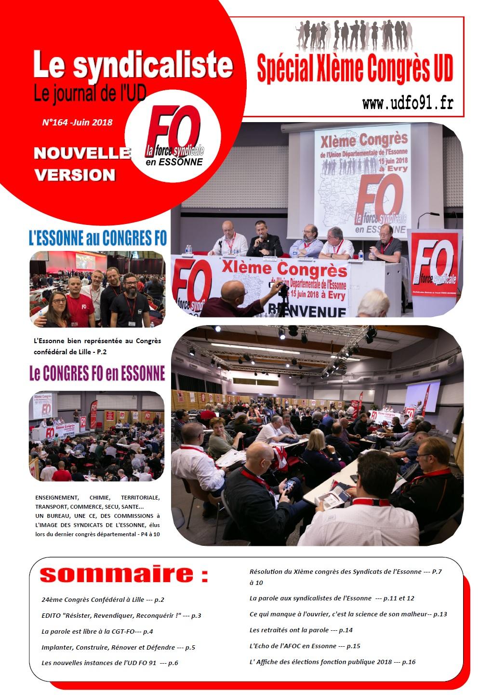 Image of LE SYNDICALISTE FO 91 -Juin 2018