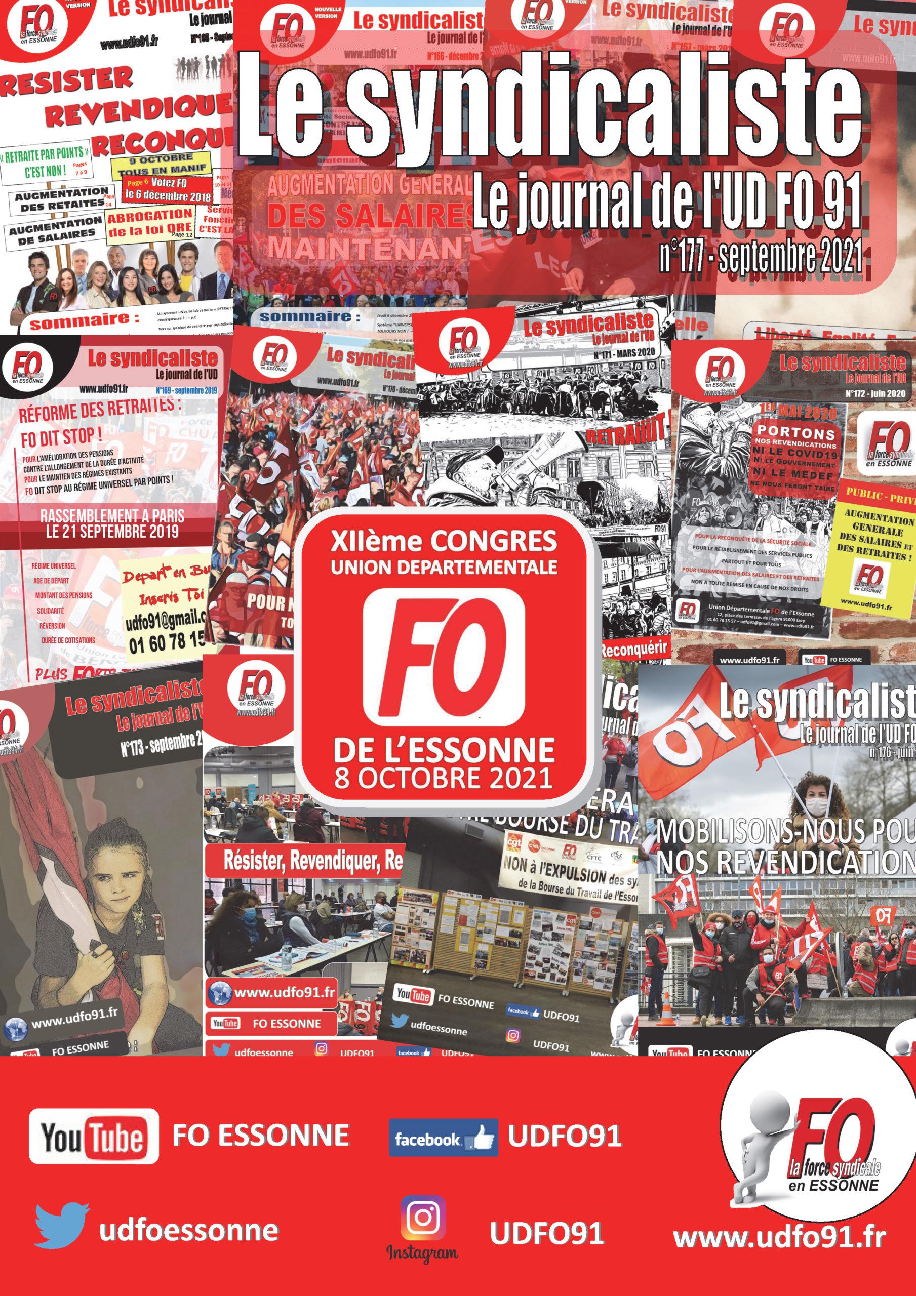 Image of Le SYNDICALISTE - Journal de l'UD FO 91